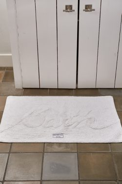 Bath Mat 'Bath' pure white