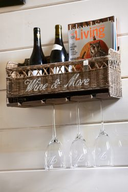 Rustic Rattan Wine & More Holder