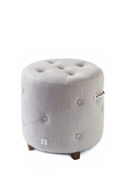 Bowery Footstool linen Flax