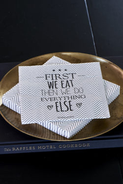 Paper Napkin First We Eat