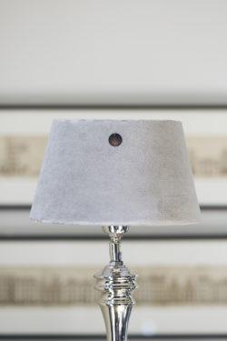 Velvet Lampshade fab. flax 15x20