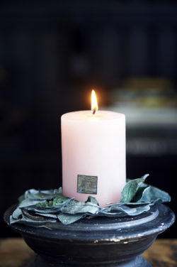 Rustic Candle blossom 7x10