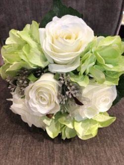 roos hortensia boeket groen