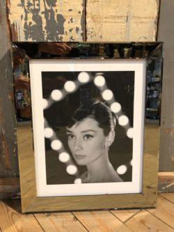 Foto spiegellijst Audry Hepburn 50x60