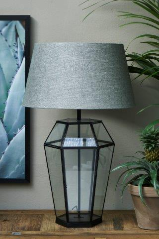 French Glass Lamp Base