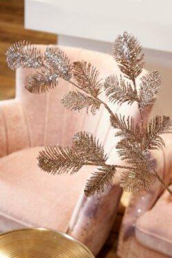 Delicate Fern Glitter Deco Leaf