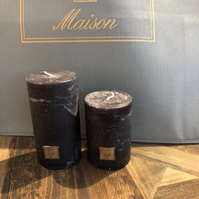 Rustic Candle black 7 x 10