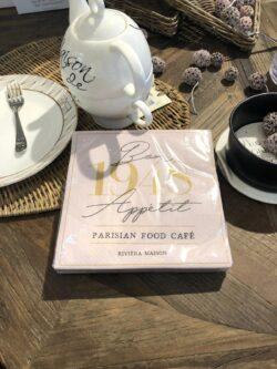 Paper Napkin Parisian Food Cafe