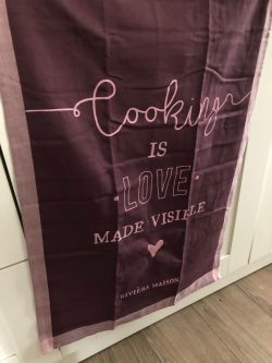 Cooking Is Love Tea Towel