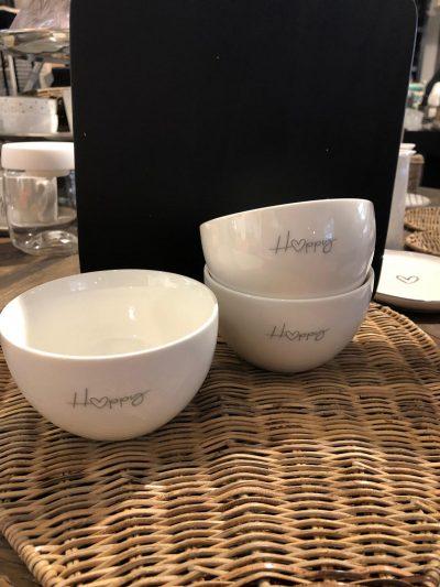 Bastion Bowl white&happy in grey 12x7