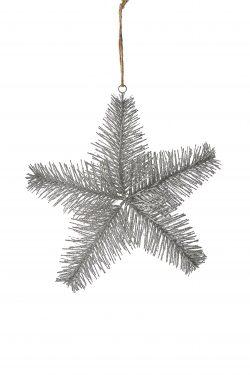 Aspen Snowstar Ornament silver M
