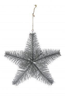 Aspen Snowstar Ornament silver L