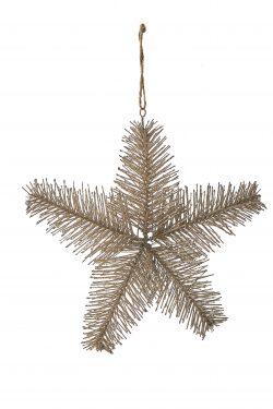 Aspen Snowstar Ornament champagne M