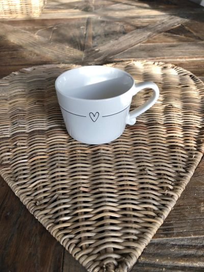 Bastion Mug smallwhite/line heart black