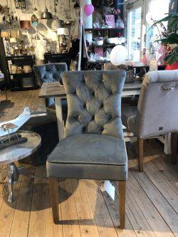 Balmoral Dining Chair Vel SlateGr