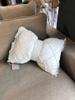 Basic Bliss Bow Pillow white