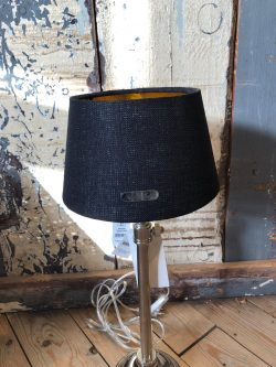 Chique Lampshade bl/gld 15x20