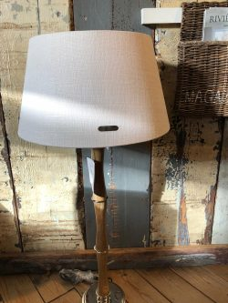 Chique Lampshade wh/gld 28x38
